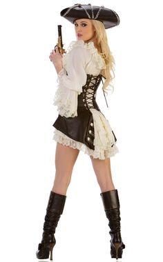 Adult Womens Lady White Pirate Blouse Peasant Renaissance Wench