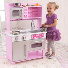 KidKraft Pink Toddler Kitchen Set