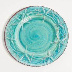 Turquoise Raised Starfish Dinnerware