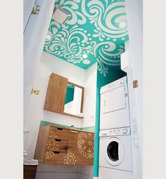 This website shows a lot of ways that ceilings can be incorporated into your design  plans.  I like all the ideas but I LOVE the teal laundry room ceiling.  It is absolutely gorgeous.