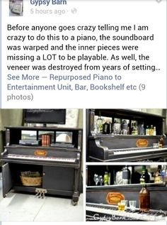 ♪♫  If my piano was in recycle condition, I would totally do this!!