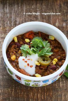 Lentil Kidney Bean Chili. Vegan Glutenfree Recipe - Vegan Richa