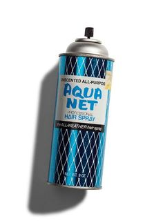 80's hair staple! i used the max strength in white and pink can. everything in the bathroom was covered in an impenetrable dusty laquer!