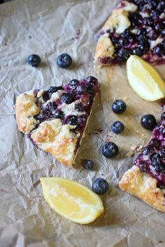 Blueberry Lemon Galette {mind-over-batter.com}