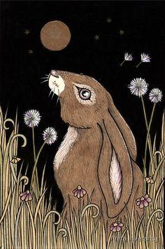 Original Ink Drawing by Anita Inverarity / Murchen is an old Scots word for hare :) / Original Sold Jan 2014 Rabbit Drawing, Rabbit Art, Animal Drawings, Art Drawings, Hare Illustration, Pagan Art, Bunny Art, Whimsical Art, Artist Art