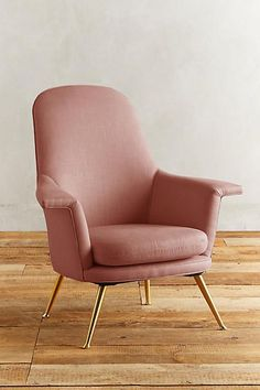 Anthropologie Linen Kimball Chair