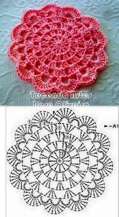 Transcendent Crochet a Solid Granny Square Ideas. Inconceivable Crochet a Solid Granny Square Ideas. Mandala Au Crochet, Crochet Diy, Crochet Circles, Crochet Doily Patterns, Love Crochet, Crochet Designs, Crochet Doilies, Crochet Flowers, Crochet Stitches