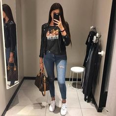 Best Jeans For Women Denim Jean Joggers Womens – bueatyk Simple Fall Outfits, Cute Casual Outfits, Stylish Outfits, Summer Outfits, Girl Outfits, Fashion Outfits, Fashion Ideas, About You Mode, Denim Jeans