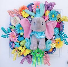 Dumbo Easter Disney Wreath by SparkleForYourCastle on Etsy, $169.00