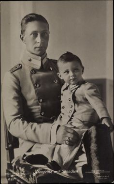 Father and son.  Crown Prince Friedrich Wilhelm with his firstborn, Prince Wilhelm.