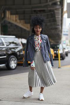 Streetstyle z Tygodnia Mody w Nowym Jorku