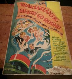 Transatlantic Merry-Go-Round Movie Poster Jack Benny United Artists 26x39 1934