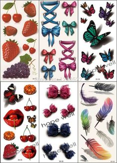 6pcs 3D Temporary Tattoo Sticker //Price: $14.74 & FREE Shipping //     #sale #design