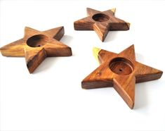 Candle Holders – Star Candle Holder, Tealight, Valentine's gift – a unique product by Omar-Handmade on DaWanda Handmade Home, Handmade Design, Handmade Items, Handmade Gifts, Star Candle, Wooden Stars, Classic House, Tea Light Holder, Handmade Decorations