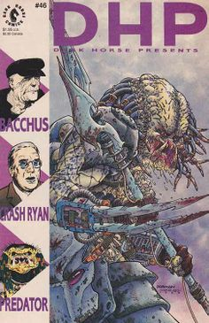 This issue boasts an all-new Predator story written by John Arcudi and illustrated by Rob Walton. It's just a small taste of the forthcoming Predator series to be written by Arcudi and illustrated by Evan Dorkin. Also in this issue, Ron Harris' Crash Ryan winds up his battle with the Air Pirates, and Eddie Campbell returns with an all-new Bacchus adventure.