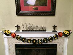 Iowa Hawkeyes Basketball Banner