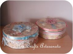 AnnCrafts: Shabby Chic Altered Boxes and Handmade Album