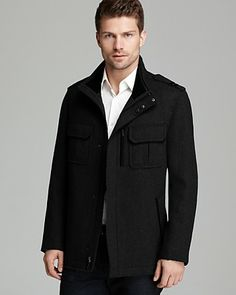 Cole Haan Twill Military Coat | Bloomingdale's