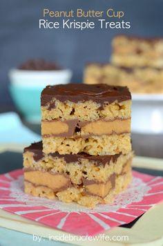 Peanut Butter Cup Rice Krispie Bars on MyRecipeMagic.com