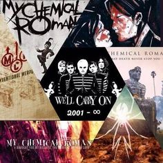 My Chemical Romance. One year today. So long and goodnight, your memory will carry on. Thank you. #MCR