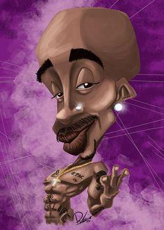 Tupac Shakur - caricature by Ribosio #2pac