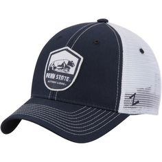 a08a444b39b5f5 Penn State Nittany Lions Zephyr Team Shield Trucker Structured Adjustable  Hat - Navy - Fanatics.