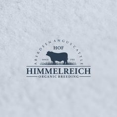 Hof Himmelreich - Logo Website for a organic Aberdeen Angus Cattle Farm classic and remarkable Hof Himmelreich (Farm Himmelreich) Is a organic aberdeen angus cattle farm est. is located in the most sout. Typo Logo, Logo Sign, Logo Branding, Branding Ideas, Logo Ideas, Cow Logo, Farm Logo, Boeuf Angus, Carnicerias Ideas