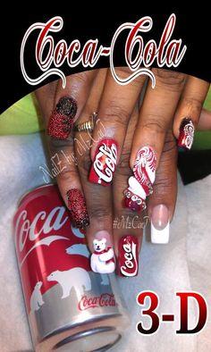 Coke Crazy nails.