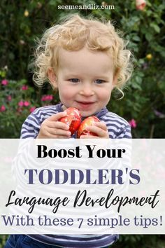 Here are 7 simple tips to boost your toddler's speech and language development! These are easy and can be put into action today! Toddler Learning Activities, Speech Therapy Activities, Language Activities, Infant Activities, Classroom Activities, Family Activities, Kids Learning, Teach Toddler To Talk, Teaching Baby To Talk