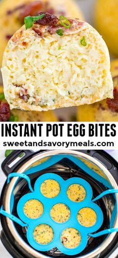 Instant Pot Egg Bites are super easy and fun to make in the pressure cooker. They are delicious and are the perfect addition to your breakfast menu. #instantpot #eggbites #pressurecooker #pressurecooking #sweetandsavorymeals #breakfastrecipes