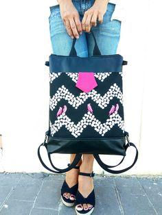 Convertible backpack, black backpack, backpacks for women, cute bag, cute backpack, laptop backpacks, vegan leather backpack, cute backpack