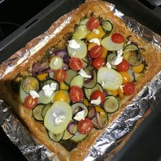 Roast vegetables tart