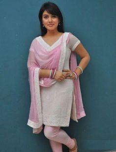 Hot pictures of actress Hansika Motwani in White Churidar Cute Stills-7