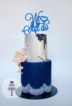 25th Anniversary Cake by Color Drama Cakes