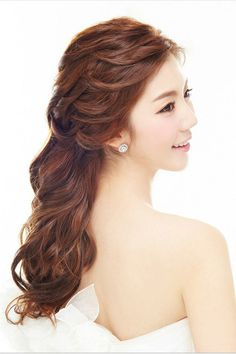 korea wedding hairstyle