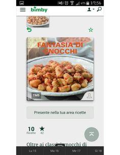 Fantasia gnocchi ... Ricettario Bimby.