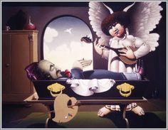LIBOR VOJKŮVKA Memento Mori, Toddler Bed, Chair, Furniture, Home Decor, Art, Child Bed, Art Background, Decoration Home