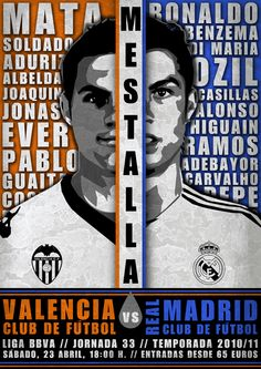 Valencia C.F. Game Day Posters by Carlos Sanchez, via Behance