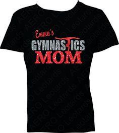 Gymnastics Tshirt Gymnast sparkle GYMNASTICS MOM by AEROLeotards, $23.98