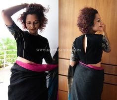 How to Shop the Best Blouse Designs For Your Black Saree? • Keep Me Stylish