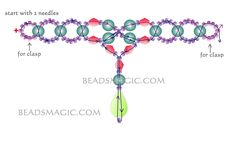 Free pattern for necklace Snow Land - 2 U need: seed beads 11/0 pearls 6 mm bicones 6 mm crystal drop