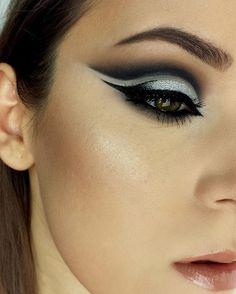 "58 Likes, 3 Comments - irina✨ (@irina_cia) on Instagram: ""Glitter cut crease . @makeup.ciaa . #makeup #lookoftheday #mua #motd #cutcrease #makeupartist…"""