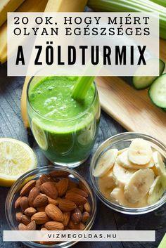 Tiszta étkezés - 20 ok, hogy miért olyan egészséges a zöld turmix Okra, Healthy Recipes, Healthy Meals, Pickles, Cucumber, Smoothies, Juice, Clean Eating, Shake