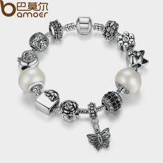 BAMOER TOP Quality Friendship Bracelets amp Bangles with White Glass Bead Butterfly Female Bead Bracelet Jewelry PA1479 $6.96   => Save up to 60% and Free Shipping => Order Now! #fashion #woman #shop #diy  http://www.rodjewelry.com/product/bamoer-top-quality-friendship-bracelets-amp-bangles-with-white-glass-bead-butterfly-female-bead-bracelet-jewelry-pa1479/