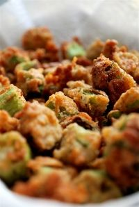 Spicy Deep Fried Okra-best southern food ever