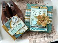 Take Note Flap-Boxes by Authentique Paper design team member Audrey Pettit