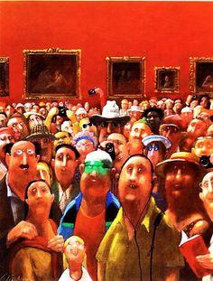 Otro punto de vista de la Mona Lisa. Ilustración por Gerhard Glück.