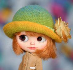 Hat OOAK Blythe Hat Style Paris Style Parisian Chic Colorful Fantasy Rainbow Hat Blythe Outfit. $28.21, via Etsy.