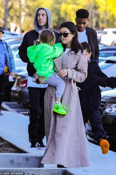 Kourtney Kardashian was joined by two of her three kids, 10 year old Mason and five year old Reign, plus drummer Travis Barker as they visited Kanye West's warehouse. Jenner Kids, Kris Jenner, Shanna Moakler, Reign Disick, Mason Disick, Travis Barker, Scott Disick, Blink 182, Young Models