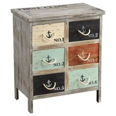 Storage Cabinet Coastal Colored Drawer - Christopher Knight Home : Target